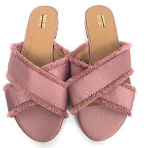 Pink Mossimo Supply Criss Cross Sandals Size 8